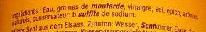 Moutarde d'Alsace Douce - Ingrédients