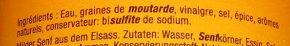 Moutarde d'Alsace Douce - Ingrédients - fr