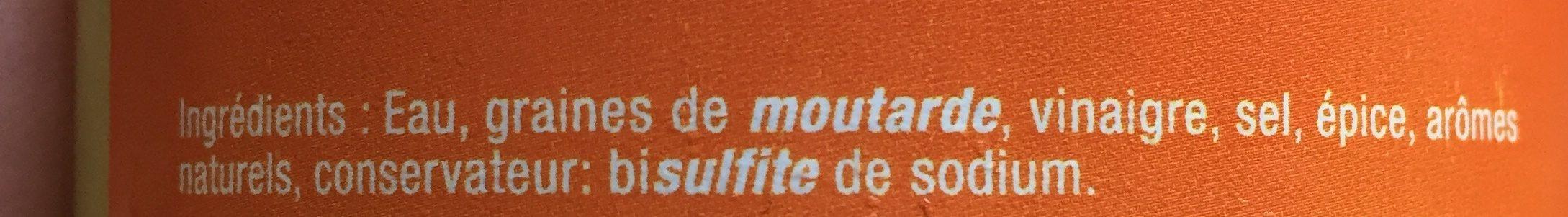 Moutarde d'Alsace mi-forte - Ingredients - fr