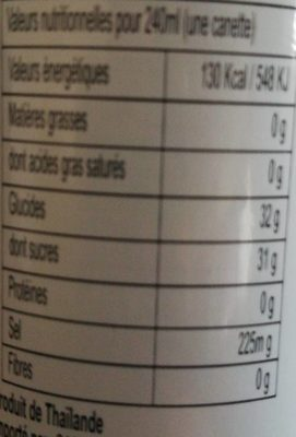 Lychee drink - Nutrition facts - fr