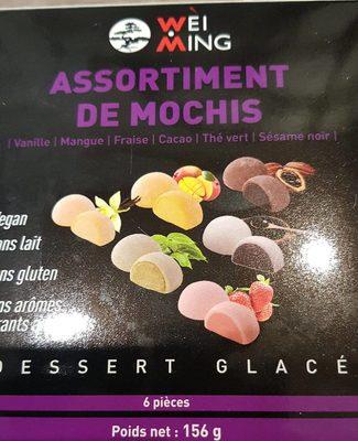 Assortiment de Mochis Glacés : Vanille, Mangue, Fraise,Cacao, Thé Vert, Sésame Noir - Produit