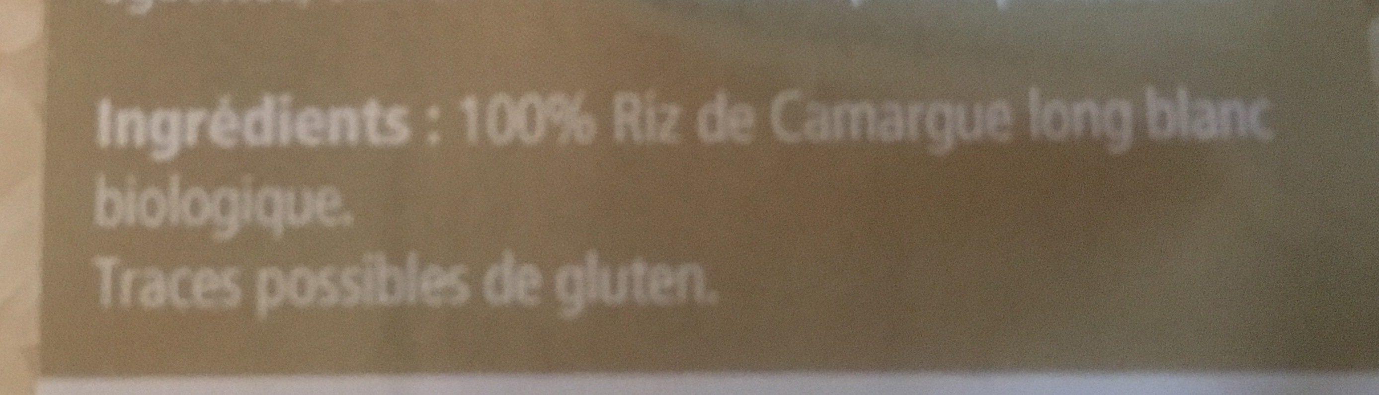Riz de camargue long blanc biologique - Ingrédients