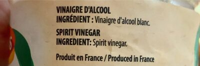 Ducros White Vinegar 1l - Informations nutritionnelles - fr