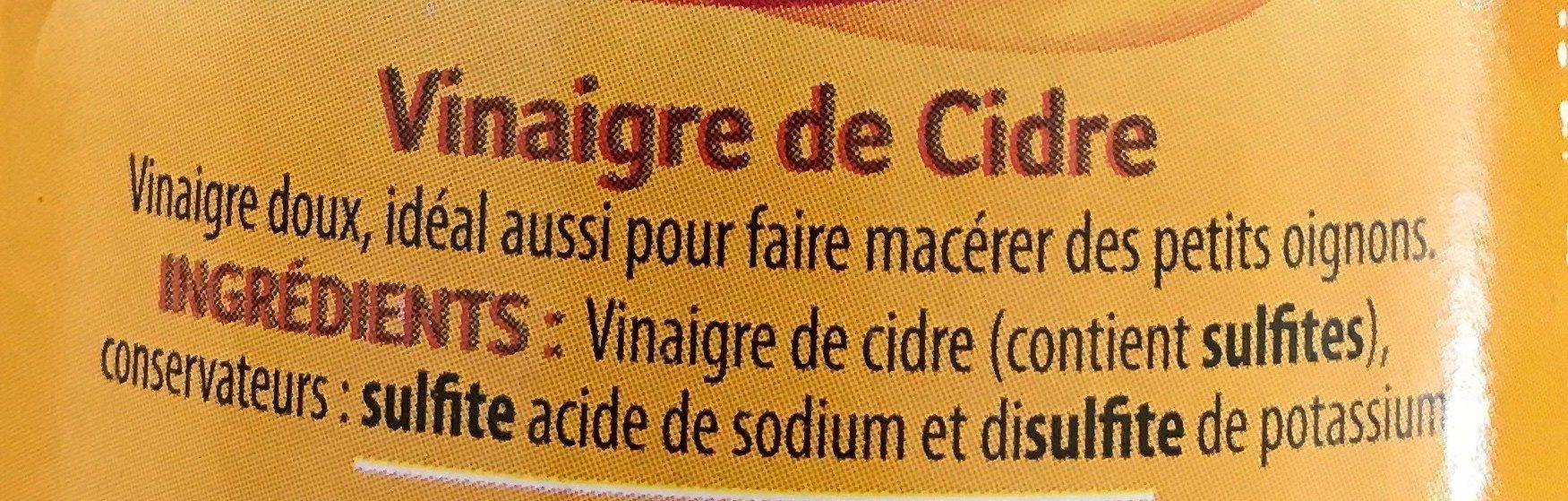 Vinaigre de Cidre - Ingrediënten - fr