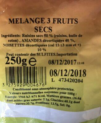 Melange 3 Fruits - Ingrediënten - fr