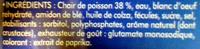 Bâtonnets Pleine Saveur (30 bâtonnets) - Ingrediënten - fr