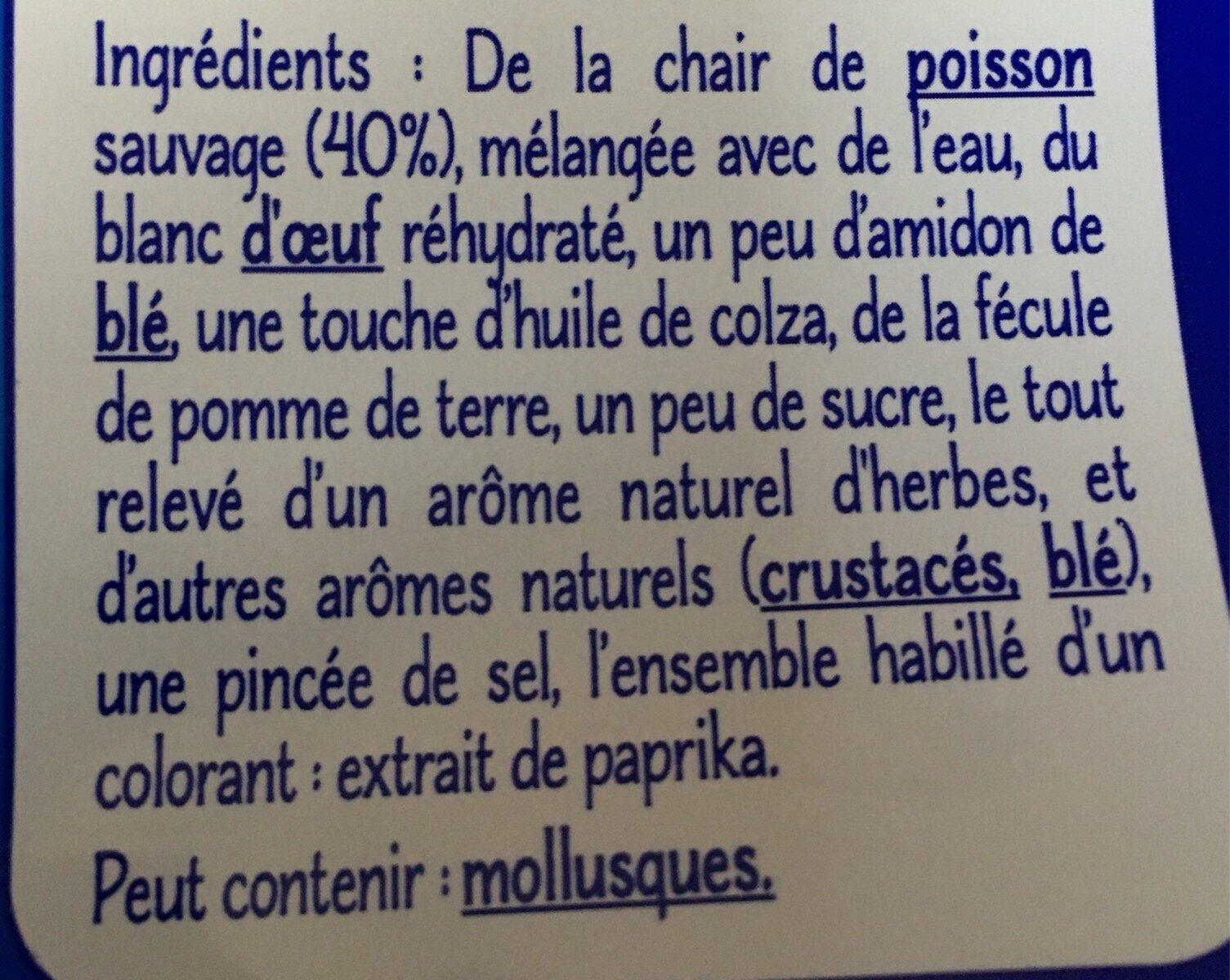bâtonnets de surimi - Ingrédients - fr