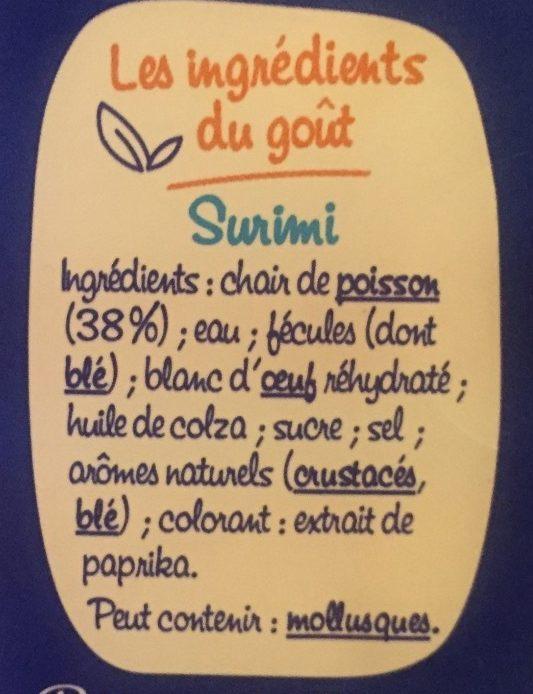 Bâtonnets Saveur - Ingrédients