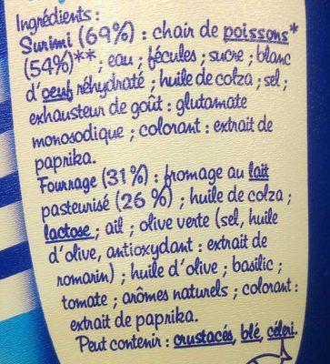 Coraya les perles fromage tomate & basilic - Ingredients - fr