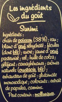 Suprêmes - Ingrédients