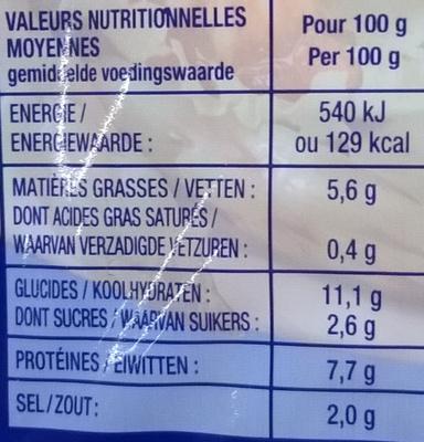 Jambon de la mer au colin d'Alaska - Informations nutritionnelles - fr