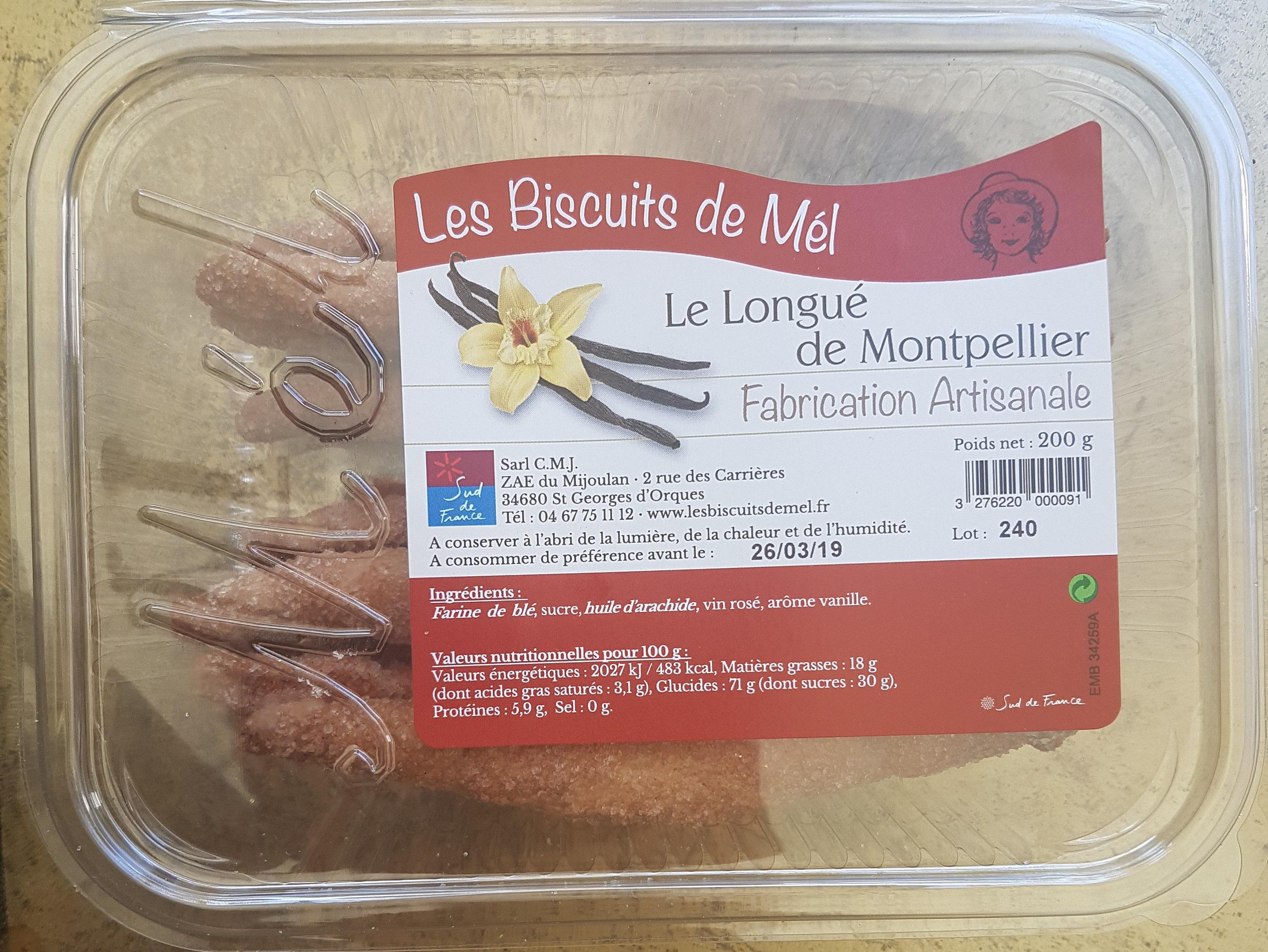 Les Biscuits de Mel Le Longué de Montpellier - Produit - fr
