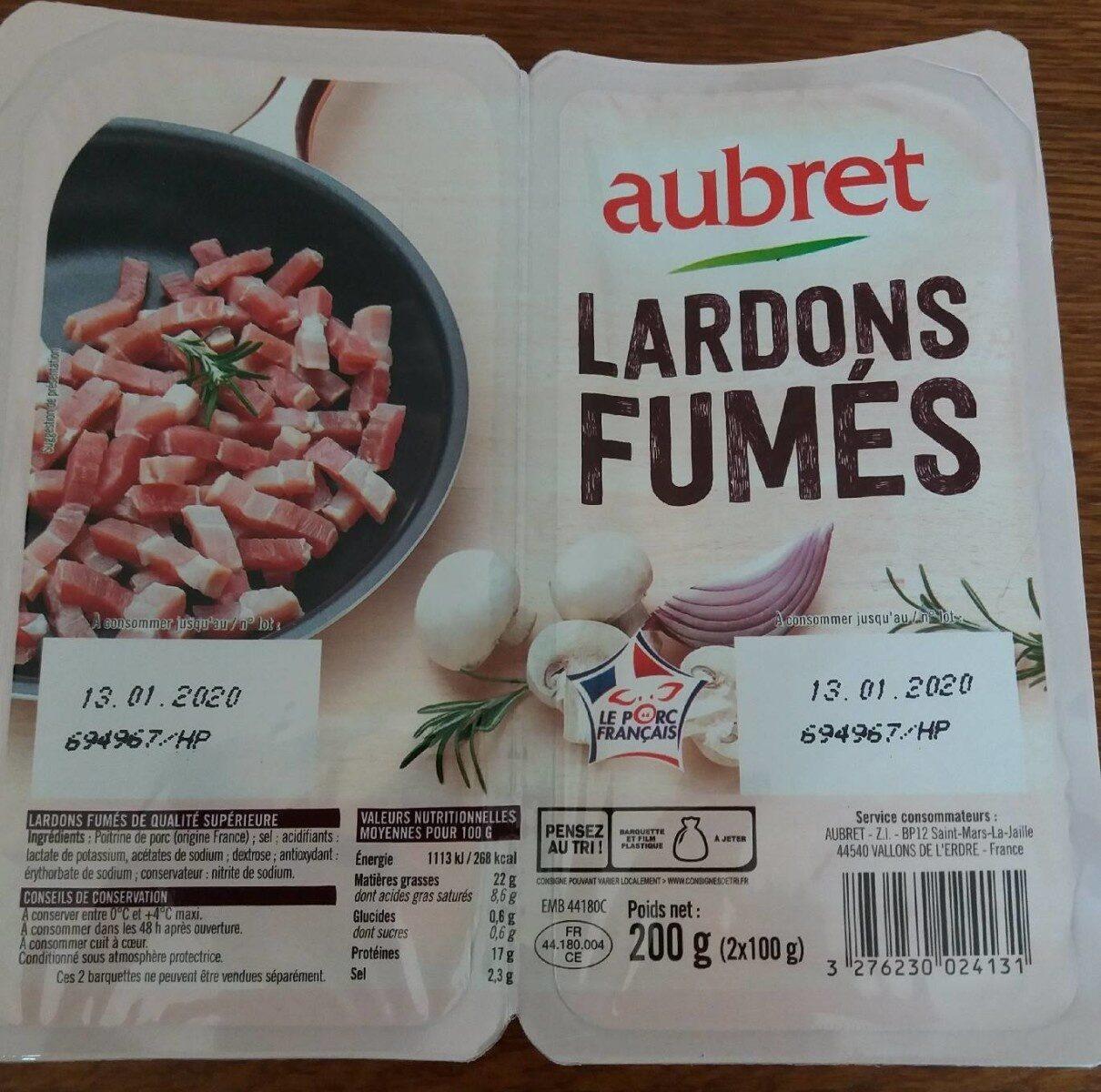 Lardons fumés aubret - Product