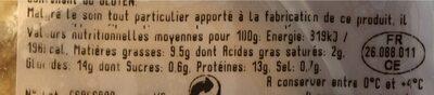Nuggets de poulet - Informations nutritionnelles - fr