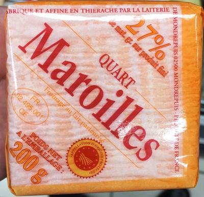 Quart Maroilles (27% MG) - Produit - fr