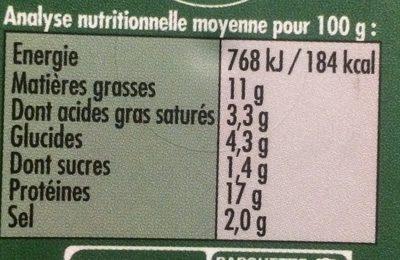 Pâté Oriental - Voedingswaarden - fr