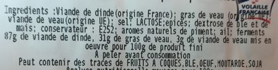 Saucisson - Inhaltsstoffe - fr
