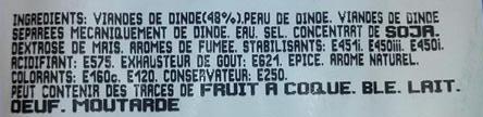 Saucisses de Volaille, Halal - Ingrediënten