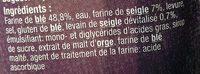 Baguette Campagnarde - Ingredients