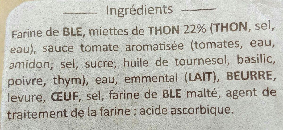 Fougassette Thon - Ingrédients