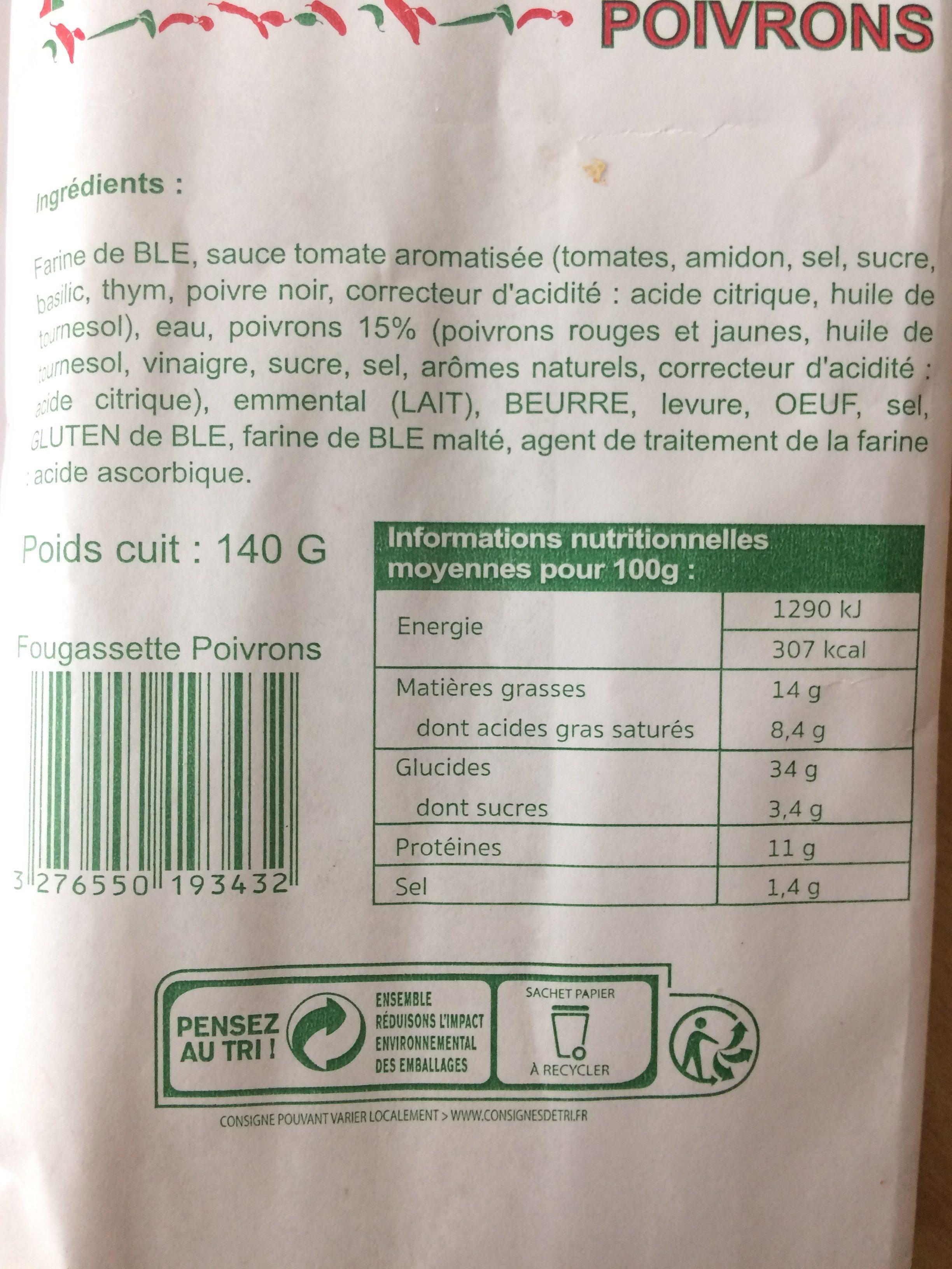 Fougassette - Ingrédients