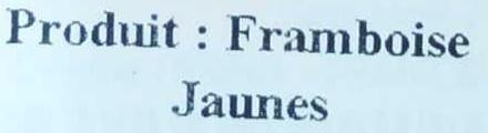 Framboises jaunes - Ingrédients - fr