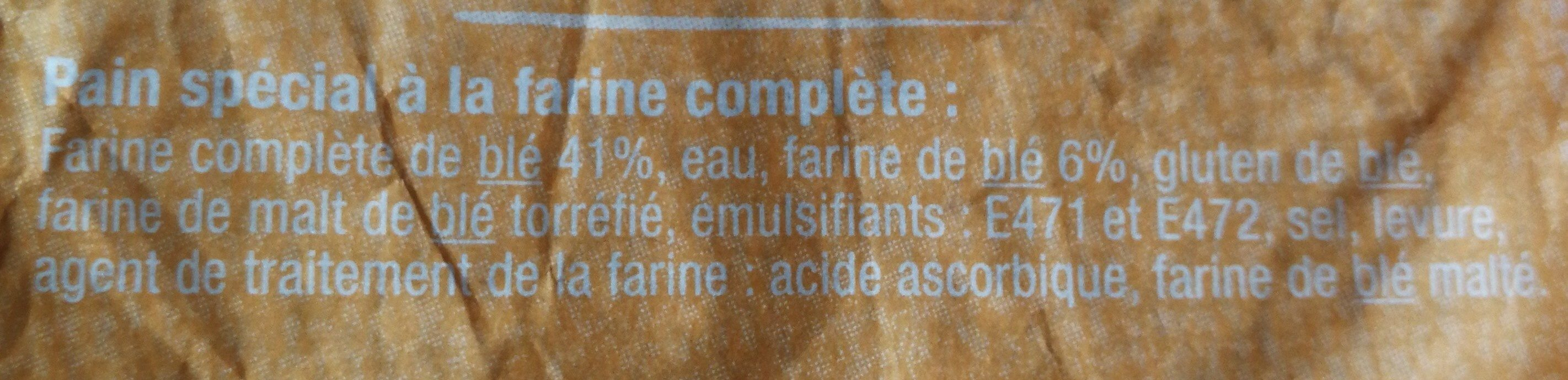 Pain Complet - Ingredients