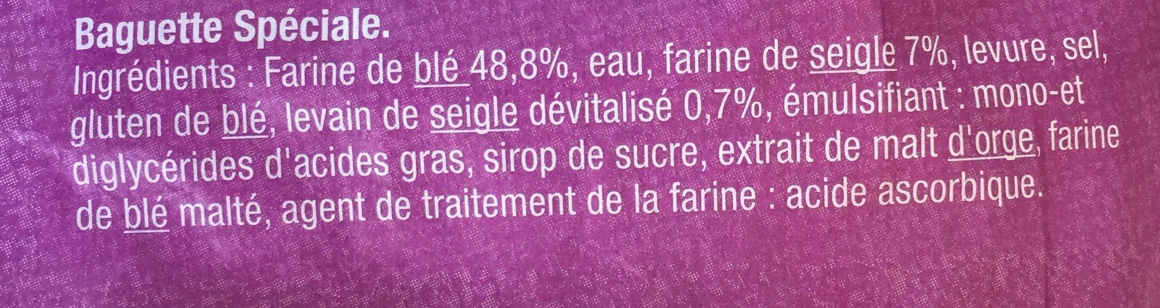 Baguette Campagnarde - Ingredienti - fr