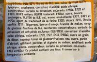 Brioche Rois Fruits Confits - Valori nutrizionali - fr