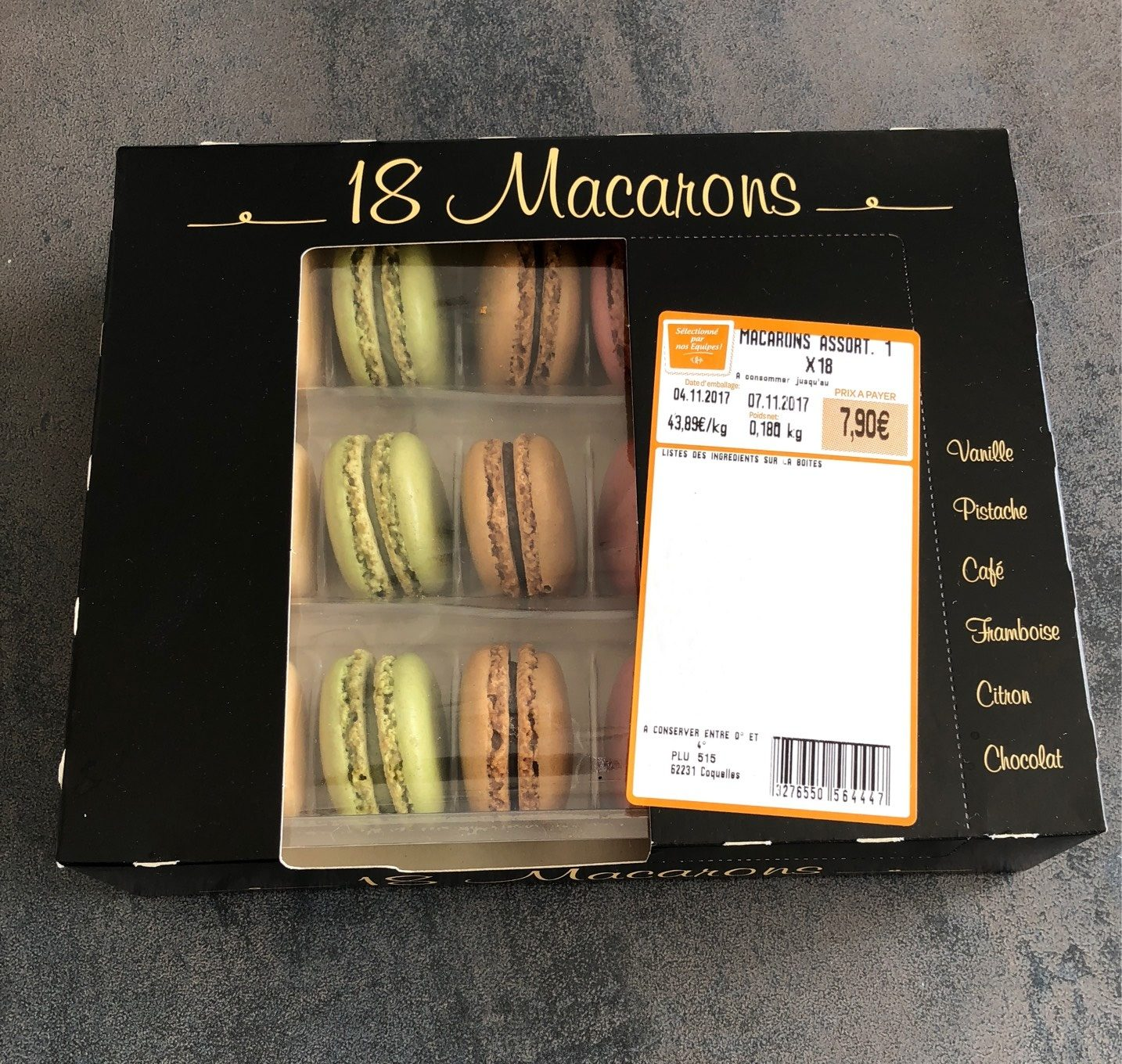 Assortiment 18 macarons - Product