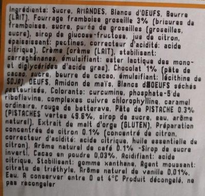 Assortiment 18 macarons - Ingredients