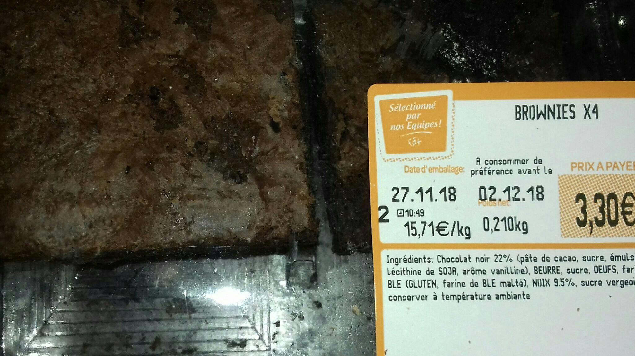 Brownies X4 - Product