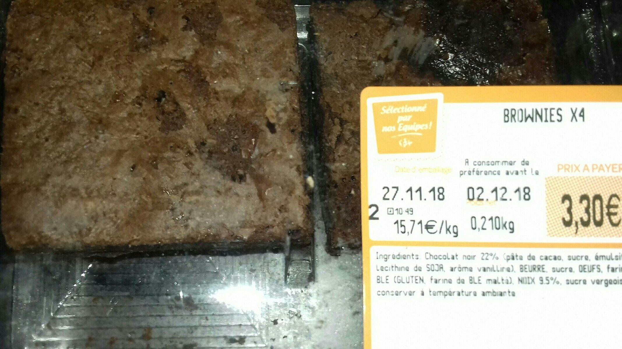 Brownies X4 - Ingredients