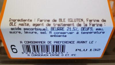boule brioche sucre - Ingrediënten - fr