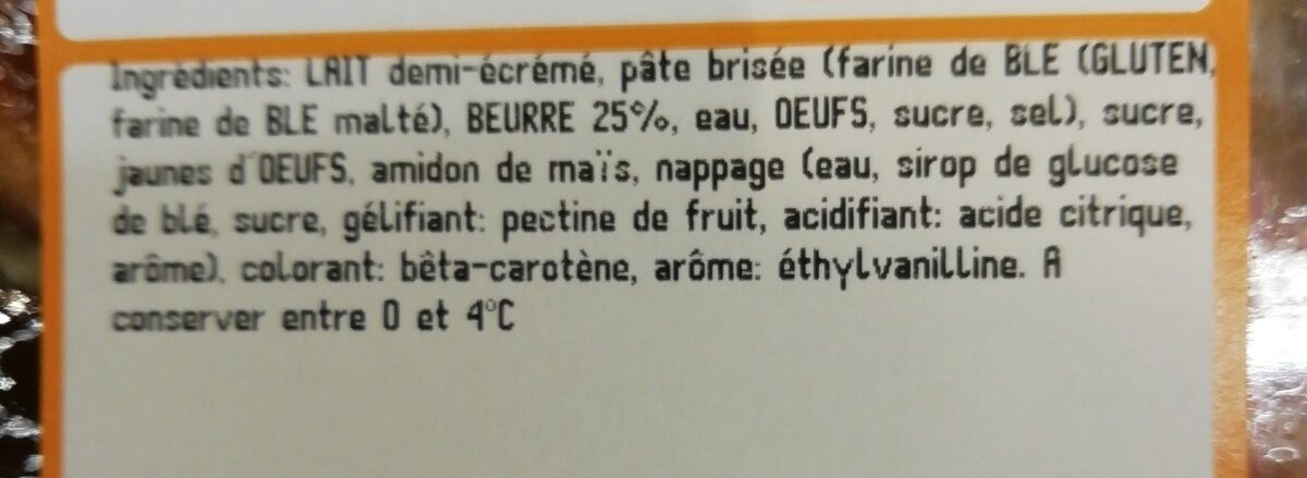 BUCHETTE ASSORT CREME BEURRE x4 - Ingrédients - fr