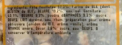 Galette frangipane - Informations nutritionnelles