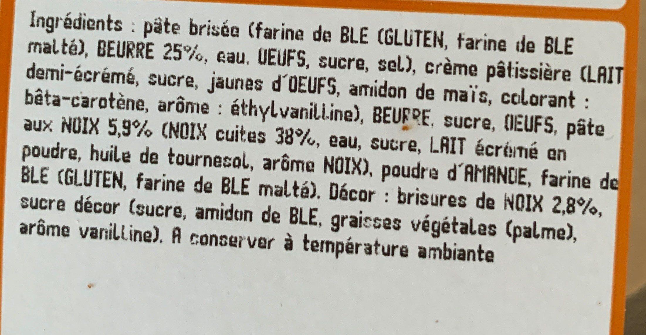 Tartelette aux noix - Ingrediënten