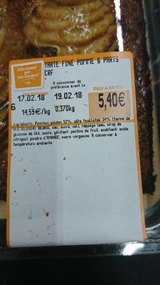 Tartelette Fine aux Pommes - Voedigswaarden