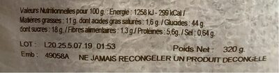 Beignets fourres pomme - Nutrition facts - fr