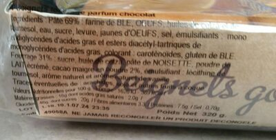 Beignets fourres chocolat - Informations nutritionnelles - fr