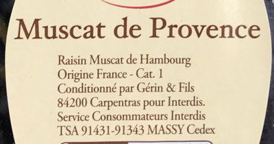 Muscat de Provence - Ingrédients - fr