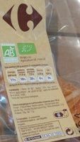 Croissant pur beurre, bio - Ingrediënten