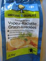 Pommes de terre Vapeur-Raclette Gratin-Rissolées - Product