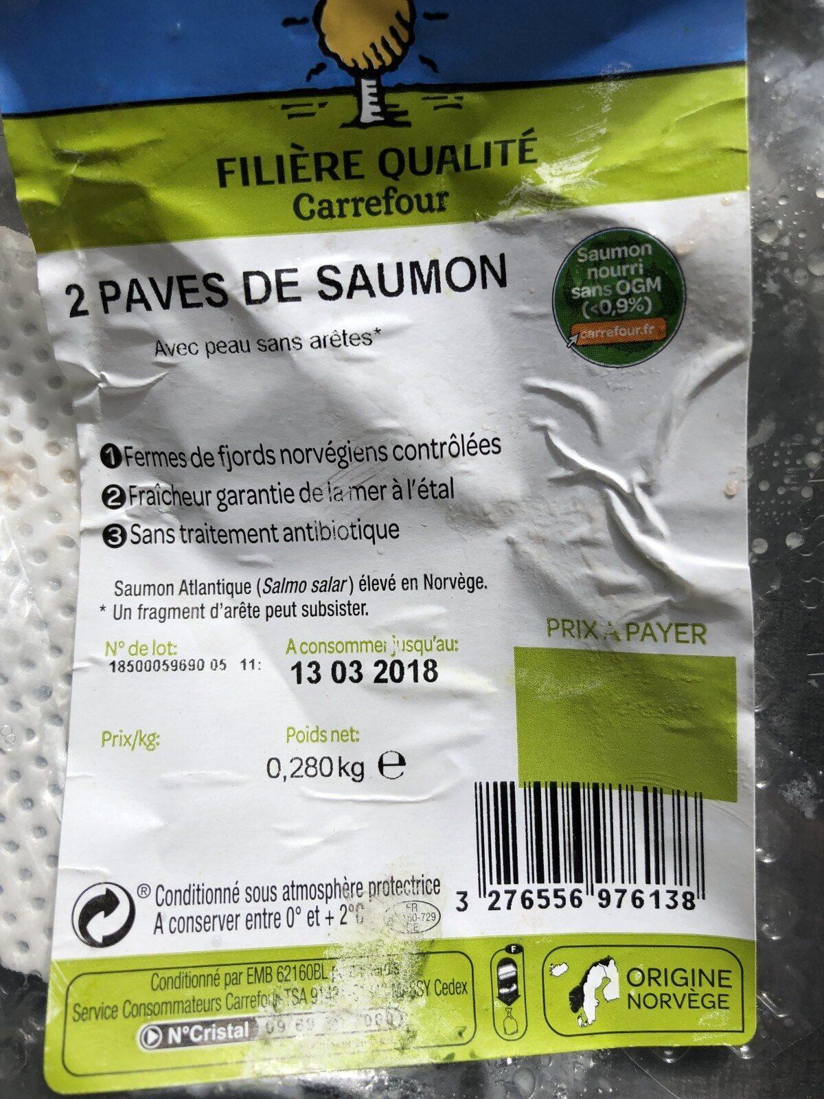 Pavé de saumon - Ingrediënten
