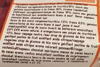Fraise - Ingredients