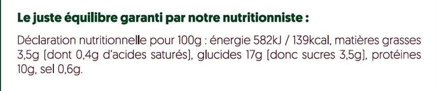 Nouilles sautées au poulet, légumes et sauce teriyaki - Informations nutritionnelles