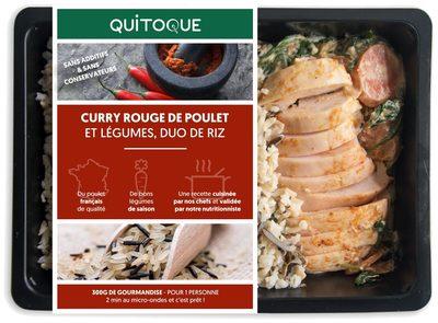 Curry rouge de poulet et légumes duo de riz - Produit