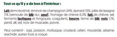 Lasagnes aux champignons - Ingrédients - fr