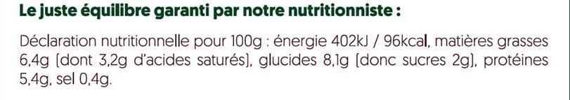 Lasagnes aux champignons - Informations nutritionnelles - fr