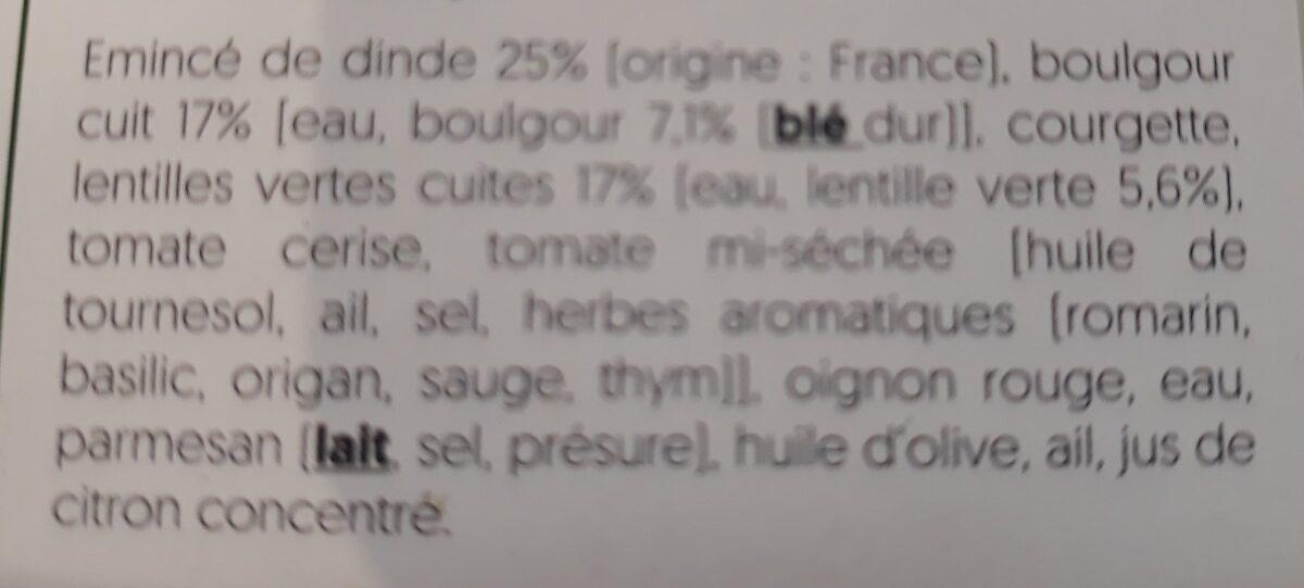 Salade dinde - Ingrédients - fr